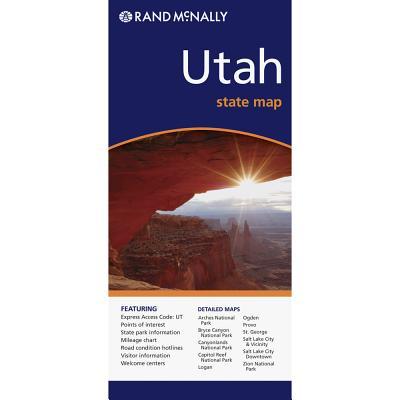 Rand McNally Utah State Map By Rand McNally and Company (COR)